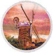 Cley Windmill 2 Round Beach Towel