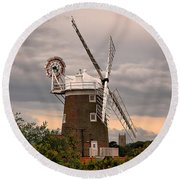 Cley Windmill Round Beach Towel by Chris Thaxter