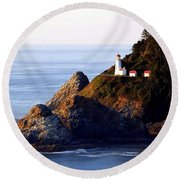 Cliff Dwellers Round Beach Towel