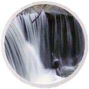 Cliff Falls Round Beach Towel