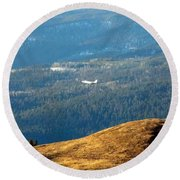 Climbing Skyward Round Beach Towel by Will Borden