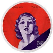 Cling To Me Round Beach Towel