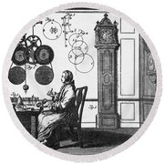 Clockmaker Round Beach Towel by Science Source
