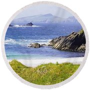 Clogher Beach, Blasket Islands, Dingle Round Beach Towel