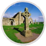 Clonmacnoise, Co Offaly, Ireland High Round Beach Towel