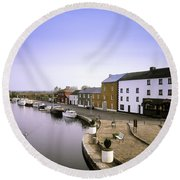 Cloondara, Co Longford, Ireland Town At Round Beach Towel
