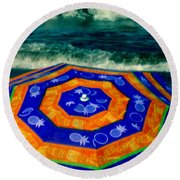 Close To The Ocean Round Beach Towel