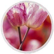 Close-up Of Tulips Round Beach Towel