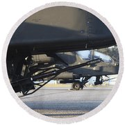 Close-up View Of The M230 Chain Gun Round Beach Towel