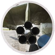 Close-up View Of The Rocket Pod On An Round Beach Towel