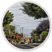 Closed On Sundays 2 - Amish Country Round Beach Towel