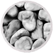 Closeup Of Fava Beans Round Beach Towel
