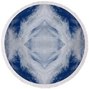 Cloud Abstract Round Beach Towel
