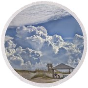 Cloud Merge Round Beach Towel