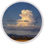 Cloud Over San Luis Valley Round Beach Towel