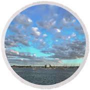 Cloud View From The Old Fort Round Beach Towel