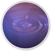 Clouded Droplet Round Beach Towel