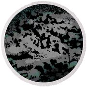 Clouded Thought Round Beach Towel
