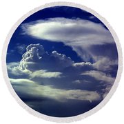 Clouds - 02 Round Beach Towel