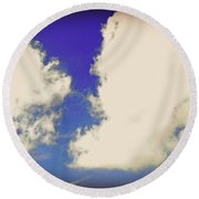 Clouds-10 Round Beach Towel