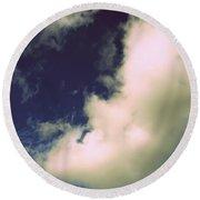 Clouds-11 Round Beach Towel