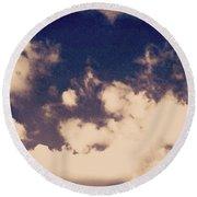 Clouds-2 Round Beach Towel