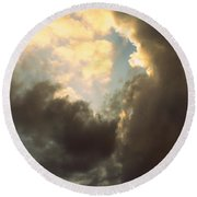 Clouds-4 Round Beach Towel