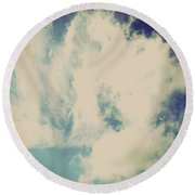Clouds-5 Round Beach Towel