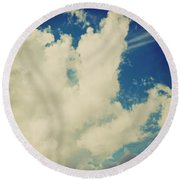 Clouds-7 Round Beach Towel