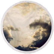 Clouds-9 Round Beach Towel