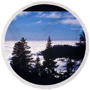 Clouds At Sequoia National Park Round Beach Towel