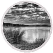 Clouds In The Lowcountry Round Beach Towel