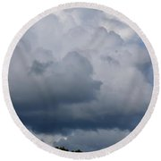Clouds Of Thunder Round Beach Towel