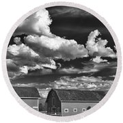 Clouds Over Knox 13804b Round Beach Towel