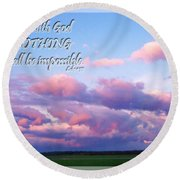 Clouds With Verse I Round Beach Towel