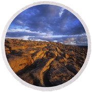Cloudscape Over A Landscape, The Round Beach Towel