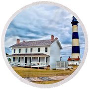Cloudy At Bodie Round Beach Towel