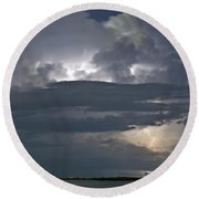 Cloudy Horizon Round Beach Towel