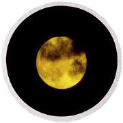 Cloudy Moon Round Beach Towel