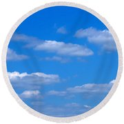 Cloudy With A Chance Of Sky Round Beach Towel