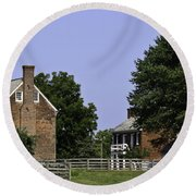 Clover Hill Tavern And Kitchen Appomattox Virginia Round Beach Towel