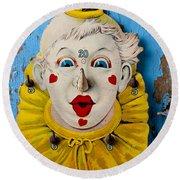 Clown Toy Game Round Beach Towel