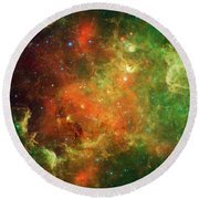 Clusters Of Young Stars In The North Round Beach Towel