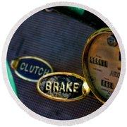 Clutch And Brake Round Beach Towel