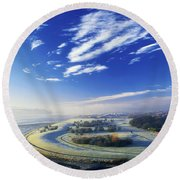 Co Derry, Ireland High Angle View Of Round Beach Towel