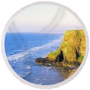 Co Derry, Ireland View Of Cliffs And Round Beach Towel