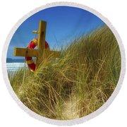 Co Down, Ireland Lifebelt Round Beach Towel
