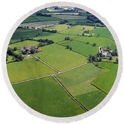 Co Fermanagh, Ireland Aerial View Of Round Beach Towel