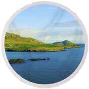 Co Kerry, Ireland Landscape From Round Beach Towel