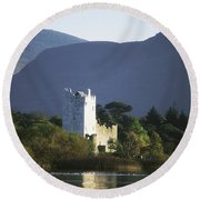 Co Kerry, Killarney, Ross Castle Round Beach Towel